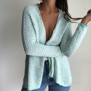 Market & Spruce light blue open front cardigan